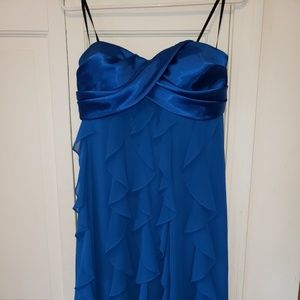 Womans Dress Blue Xscape size 14 strapless